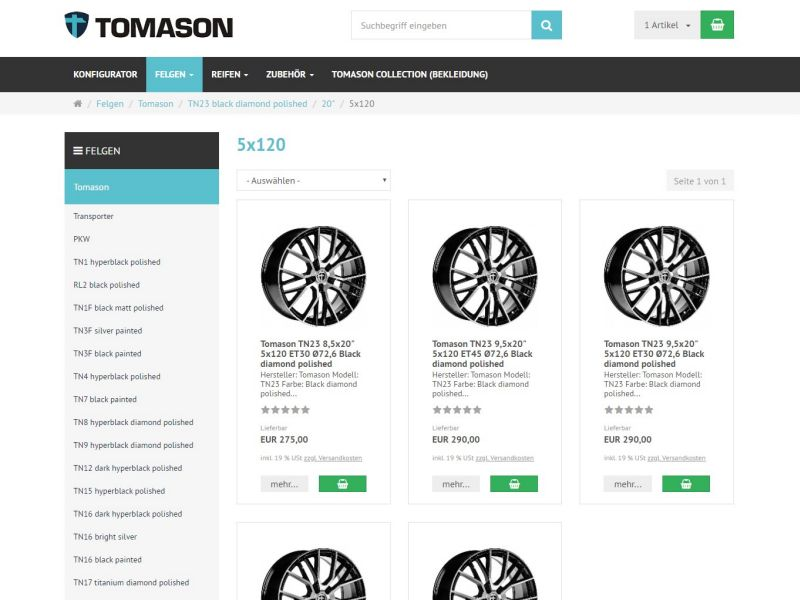 Tomason<br>Online-Shop